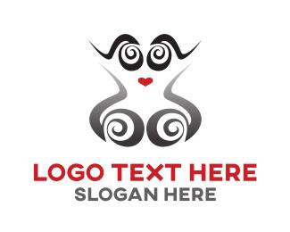 Cyborg - Lady Robot logo design