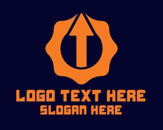 Cog - Arrow Cog logo design