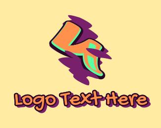 Arts - Graffiti Art Number 4 logo design