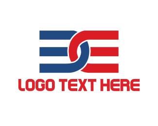 Initial - B & E logo design