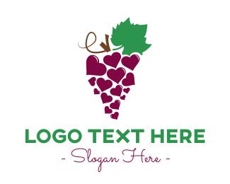 Grapes - Wine Lover logo design