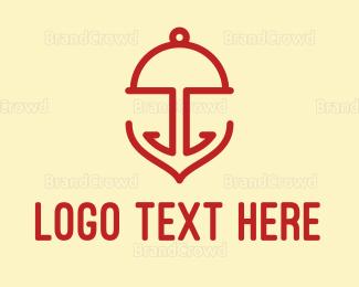 Tray - Anchor Food logo design