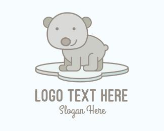 Smile - Cute Smiling Bear logo design