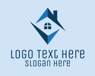 Architecture Firm - Blue Home Realty  logo design