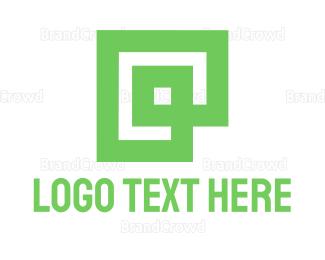 Framing - Green Square logo design
