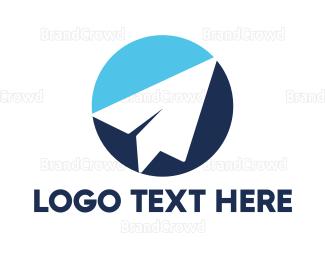 Flyer - Blue Paper Plane logo design