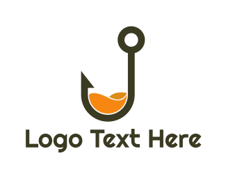 Hook - Orange Hook logo design