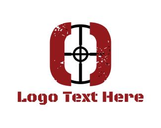 Hunt - Sniper Target logo design