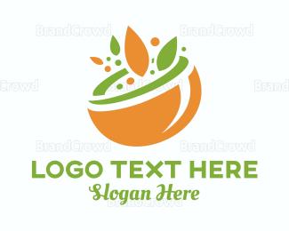 Bowl - Nature Bowl logo design