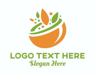 Organic Food Bowl logo design