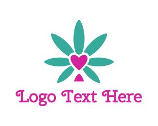 Cannabis - Cannabis Heart  logo design