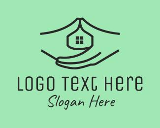 Room - House Construction Hands logo design