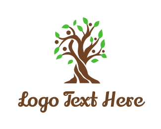 Massage - Brown Family Tree logo design