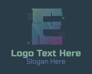 Fortnite - Modern Glitch Letter E logo design
