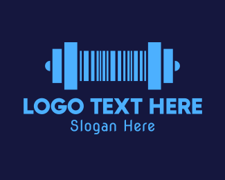 Barcode - Barcode Gym Dumbbell logo design
