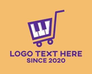 Shopping Cart - Piano Shopping Cart logo design