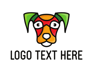 Dog Whisperer - Colorful Jack Russell logo design