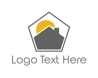 Chimney - Pentagon House logo design
