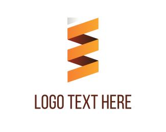 Gradient - Orange Folded Paper logo design