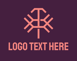 T - Pink Abstract Letter X & T logo design