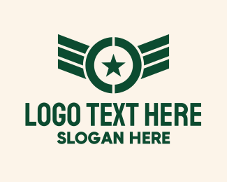 Medal Of Valor - Military Pilot Wings logo design