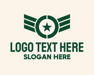 Pilot - Military Pilot Wings logo design