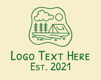Camping Ground - Campsite Tent  logo design