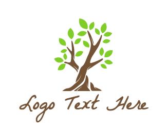 Therapist - Green Leaf Tree logo design