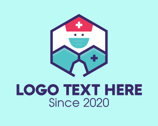 Joyful - Medical Healthcare Nurse Hexagon logo design