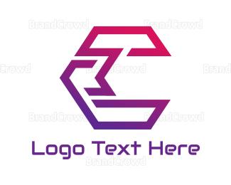 Technician - Gradient Hexagon C logo design