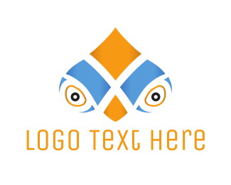 Look - Parrot Face logo design