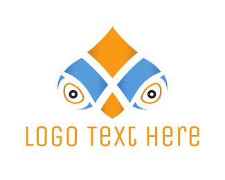 Glasses - Parrot Face logo design