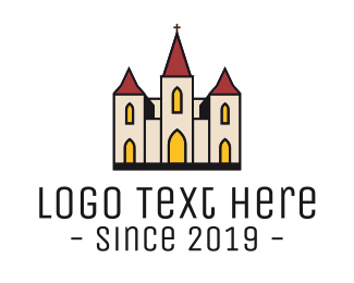Wedding - Catholic Church logo design