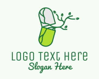 Antibiotic - Herbal Organic Medicine  logo design