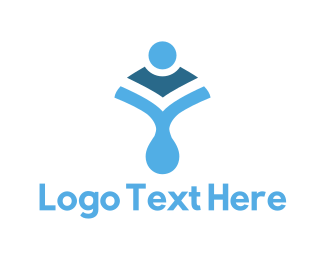 Body - Blue Body Shape logo design