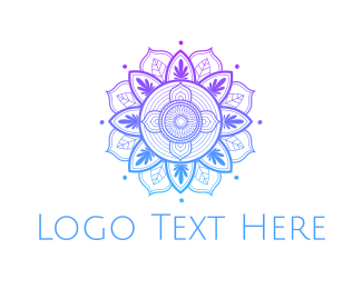 Culture - Gradient Flower Outline logo design