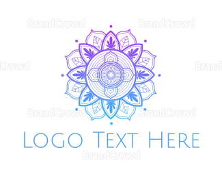 """Gradient Flower Outline"" by eightyLOGOS"