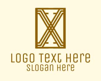 Art Deco - Art Deco Letter X logo design