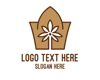 Temple - Abstract Arabian Flower  logo design