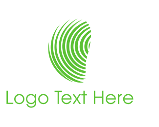 Biometric - Green Fingerprint  logo design