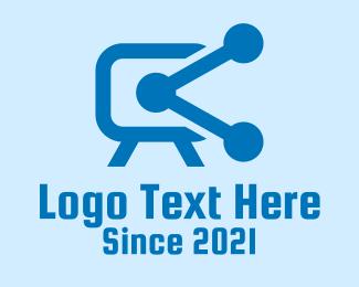 Connection - Blue Video Connection logo design