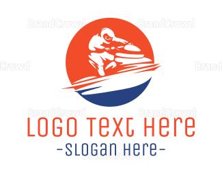Fast Jet Ski logo design