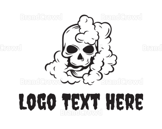 Rock Band - Smoking Black Skull logo design