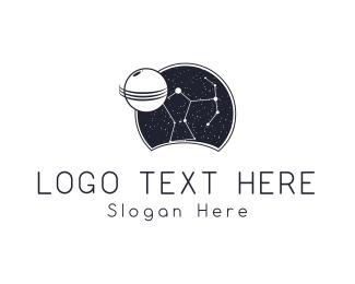 Astronomy - Night Constellation logo design