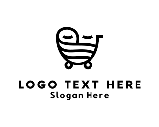 Stroller - Baby Carriage logo design