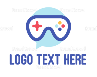 Messaging - Goggle Message Gaming logo design