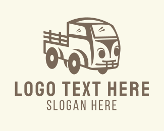Farm Truck - Old Farm Truck logo design