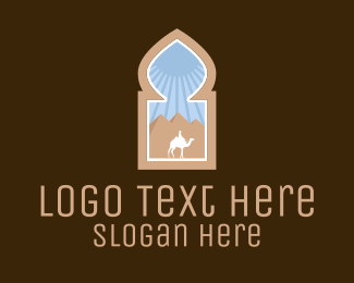 Tourist Attraction - Egyptian Desert Emblem logo design