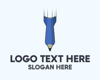 Pen Missile logo design