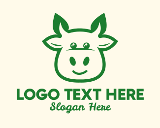 Dairy Farmer - Organic Cow Farm logo design
